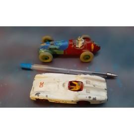 2 VINTAGE Dinky Racing cars