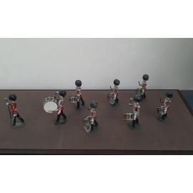 VINTAGE Britains Pipe Drum Band in Lead(BB)