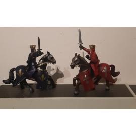2 Simba Knights on Horses                 ( Toy no 5F)
