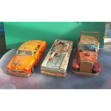 3 VINTAGE Tlnplate Toys For parts