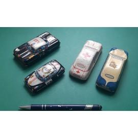4 VINTAGE Tinplate Cars 1950's Very Original