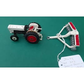 Dinky David Brown Tractor With Harrow 1960's