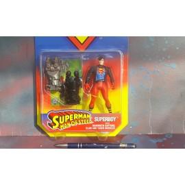 Kenner Superboy With Taser Missiles on Card
