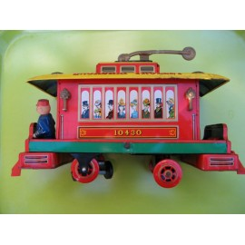 Old Toy Train Tinplate BROADWAY TROLLEY