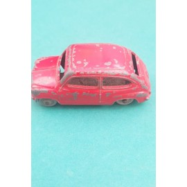 Dinky Fiat 500 Sedan Red 1958 Plastic Wheels