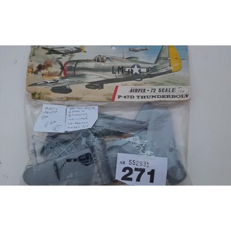 Vintage Airfix - 72 scale P-47D Thunder Bolt